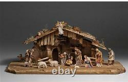 15 Piece Kostner Nativity Scene by PEMA Woodcarvings 10 Series Wooden Pieces