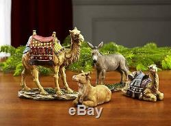 16PC Deluxe Edition Christmas Nativity Set Real Frankincense Gold Myrrh 10Scale