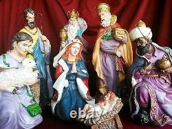 17 Tall Christmas Nativity Set Large Complete Nativity Scene Three Kings Gifts