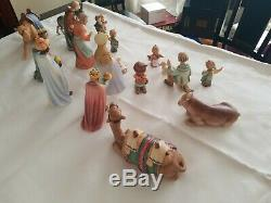18 Piece Hummel Nativity set #214 and two camel add ons