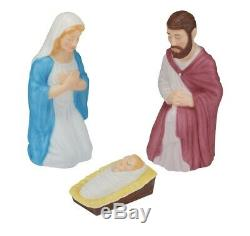 28.5 Lighted Outdoor Nativity Set 3 piece Holy Family Large Lights Christmas