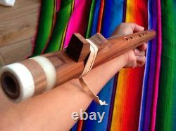 3-native American Style Flute Carved Set-of 3 With Cases Fast S&h Sale