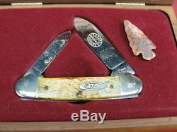 4 CASE NATIVE AMERICAN SERIES KNIFE LIMITED EDITION SET WithCASES COCHISE GERONIMO