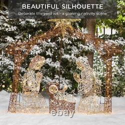 6 ft. LED Outdoor Nativity Set with 190 Warm White Lights and Stakes