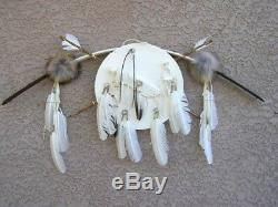 AUTHENTIC HANDMADE Native American NAVAJO Bow and Arrows WithShield SET WHITE 38