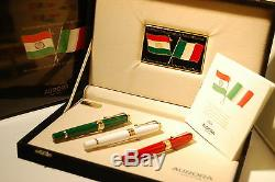 Aurora Bicentenary Of The Birth Of The Italian Flag 3 Fountain Pen Set