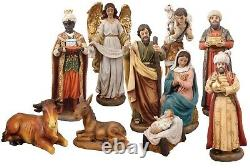 Christmas Traditional Nativity Set Christmas Ornament 11 Figures Made in Italy