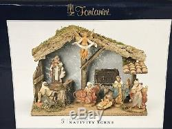 Fontanini 5 Inch Scale 110th Anniversary Nativity Set withSigned Stable New $270