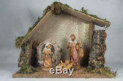 Fontanini-Made In Italy'Nativity' 4 Pc. Set WithStory Card #54710 5 New In Box