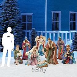 Giant Christmas 9 Piece Nativity Set Outdoor/indoor Decoration Brand New