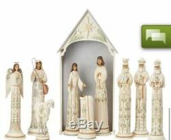 Hand Signed By Jim Shore A Time For Joy 10pc 18.75 Nativity Set Limited 191/435