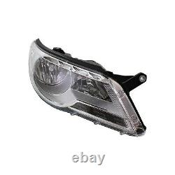 Headlight Set For 2009-2011 Volkswagen Tiguan Left and Right With Bulb 2Pc
