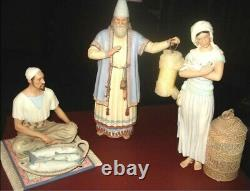 LENOX Nativity MIRACLE IN BETHLEHEM TOWNSPEOPLE set of NEW in BOX with COA