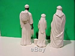 LENOX OH HOLY NIGHT NATIVITY TOWNSPEOPLE set NEW in BOX African American ebony