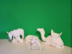 LENOX The NATIVITY 3 ANIMALS set Bisque NEW in BOX withCOA Bone China white set