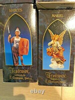 LOT of 13 FONTANINI DEPOSE Made in ITALY NATIVITY VILLAGE FIGURES 4-5in Vintage