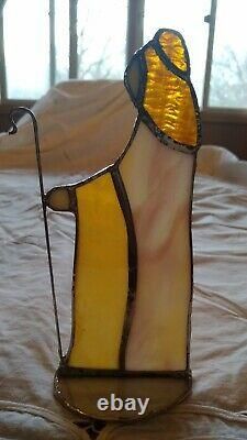 Large HandMade Stained Glass Nativity Set