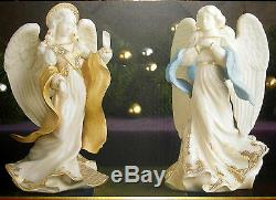 Lenox First Blessing Nativity Angels Peace & Hope Figurines Set 2 Christmas NEW
