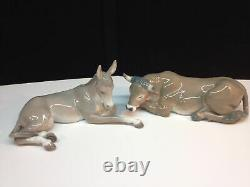 Lladro Complete Nativity Set Includeing Creach And Camel- New $4500 Value