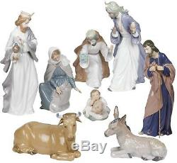 Lladro Nao by Lladro Nativity Set Figurines -Porcelain Christmas Set Ornament