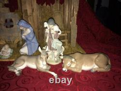Lladro Nativity Set withcreche, one owner, orig box, MINT, nonsmoke home