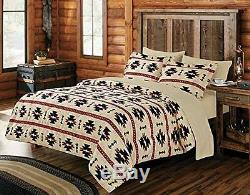 Luxurious 7 PC South Western Motif Beige Comforter Bedding Set New