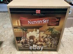 Members Mark NATIVITY SET New In Box 2005 NEW IN BOX 16 Pieces Set