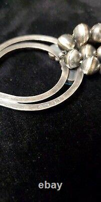 N31 Native American Sterling Silver Sleeping Beauty Turquoise Squash Blossom SET