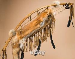 Native American HANDMADE Antiqued Navajo Bow & Arrow Quiver Set 44 -Red Fox