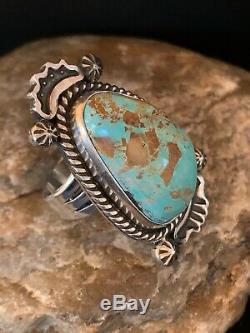 Native American Navajo Sterling Silver Blue Turquoise Ring Set 8 4137