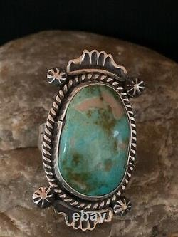 Native American Navajo Sterling Silver Green Turquoise Ring Set 8 4139