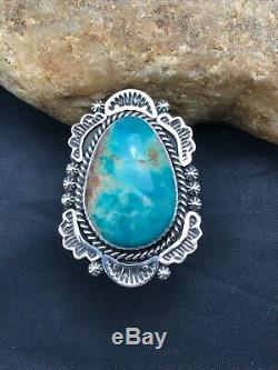 Native American Navajo Sterling Silver Royston Turquoise Ring Set 10.75 3258