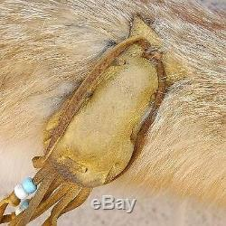 Native American Red Fox Fur Quiver Bow Arrow Set by Navajo Curtis Bitsui