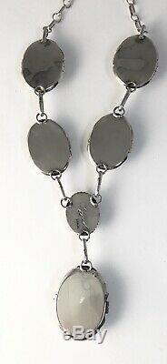 Native American Sterling Silver Navajo Indian White Buffalo Turquoise Set