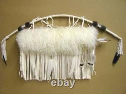 Native Cherokee Indian Leather Arctic Fox Fur Quiver Arrow 44 Bow Set Wetfoot