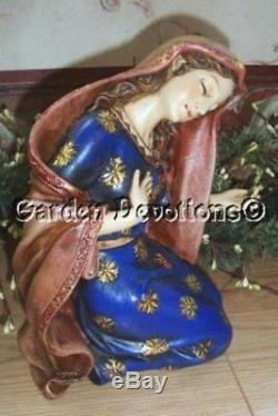 Nativity Set 10 pc Simply Exquisite 20 inch Indoor Outdoor Resin Cheerful Bright
