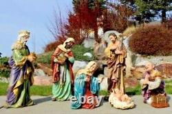 Nativity Set 7pc 24 inch Tall Removable Jesus Large Outdoor Indoor