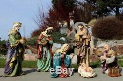 Nativity Set 7pc 24 inch Tall Removable Jesus Large Outdoor Indoor Garden Statue