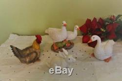 Nativity Set Animal Statues 18 inch Scale Cow Donkey Goat Sheep Birds 12 pc