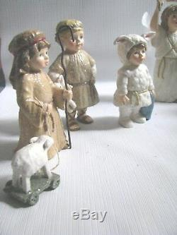 Nativity Set Children's Christmas Pageant Bethany Lowe 12 Pieces 3 6
