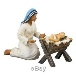 Nativity Sets for Christmas Indoor Three Kings Gifts 14-Pieces 7-Inch NEW