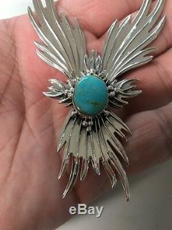 Navajo Native American Turquoise Phoenix Necklace Set Charles J. Stunning #1 Wow