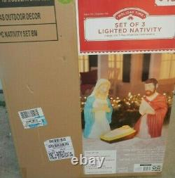 New 28.5 Lighted Blow Mold Outdoor Indoor Nativity Set Christmas Holiday Time