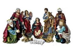 Outdoor Nativity Set 11pc Scale Kings Animals 18 inch Indoor Donkey Sheep Jewels