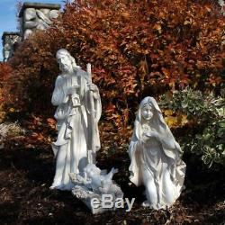 Outdoor Nativity Set 3pc White 23 inch Removable Jesus Yard Statue Resin