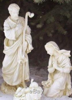Outdoor Nativity Set Best Yet! 27.5 inch White Garden Yard Durable Resin 3pc Set