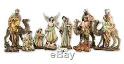 Outdoor Nativity Set Removable Jesus Kings Camels 15 inch 11pc Indoor Yard Decor