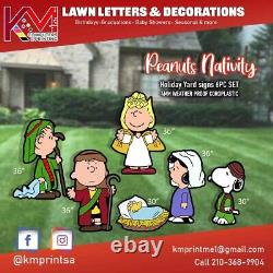 Peanuts Charlie Brown Nativity Lawn Decor set (High Resolution) Weather Proof