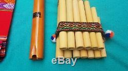 Professional Pan Flute Set Of 4 Zampona Quena Native American Style Flutes New