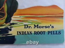 Set 4 Dr Morse's Indian Root Pills Display Signs Native American Advertising